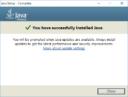 Java SE - успешное завершение установки