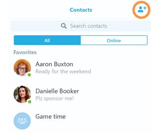 Как добавить новый контакт в Skype