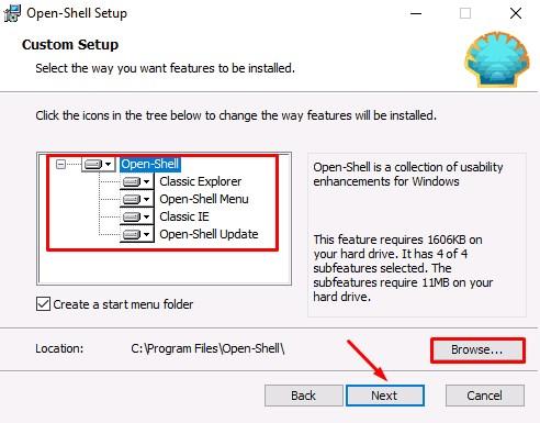 Процесс установки Classic Shell