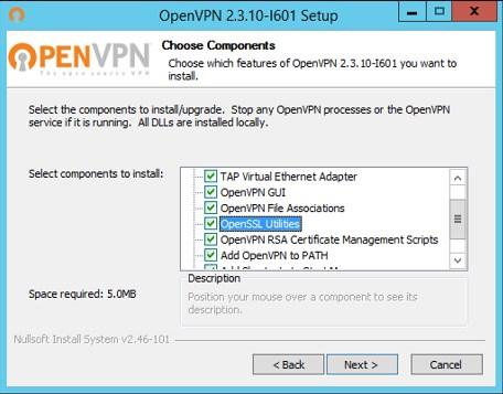 Установка приложения OpenVPN