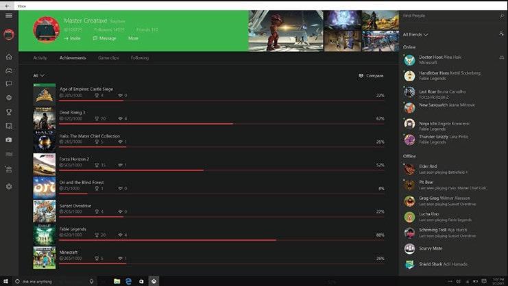Список игр в Xbox Identity