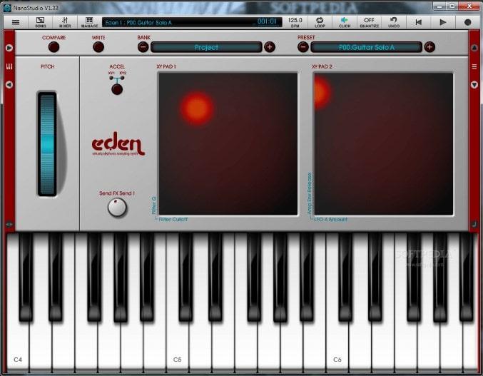 Виртуальный встроенный синтезатор в Nanostudio