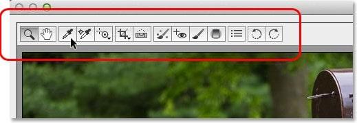 Инструменты редактирования в Camera Raw