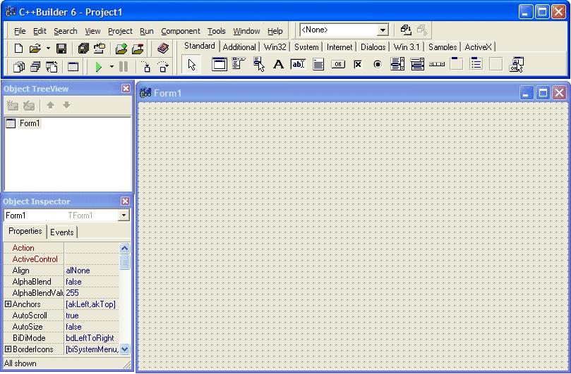 Интерфейс программного обеспечения C++ Builder 6
