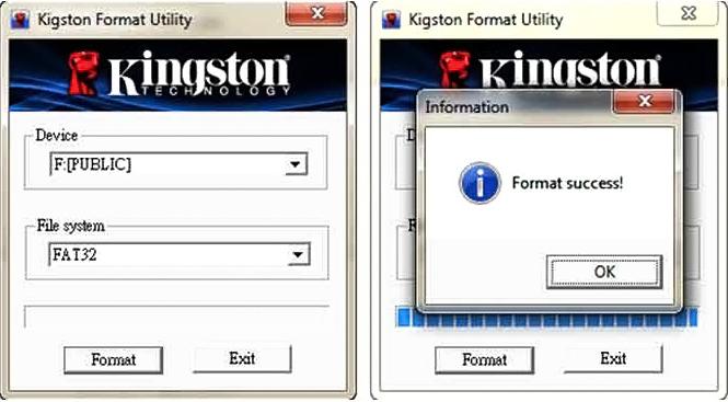 Изображение утилиты Kingston Format Utility