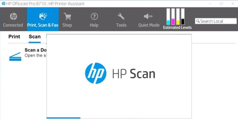 Изображение софта HP Scan