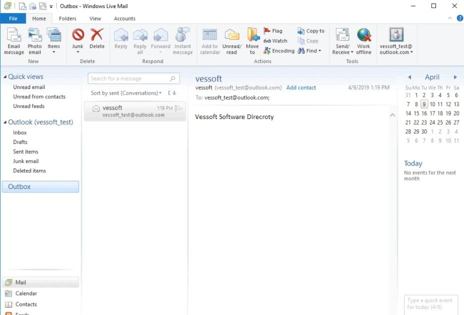 Изображение приложения Windows Live Mail