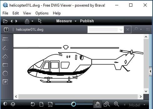 Просмотр файлов в утилите Free DWG Viewer
