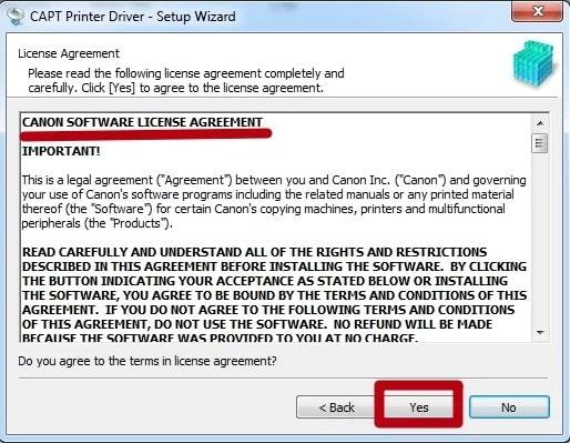 Условия лицензионного соглашения Драйвер Canon LBP 2900