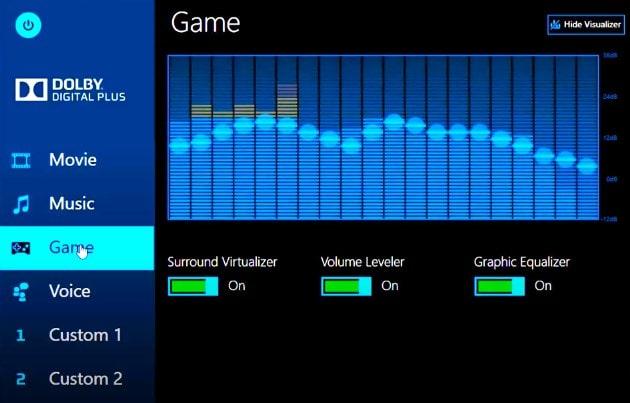 Виртуальный объёмный звук в Dolby Digital Plus