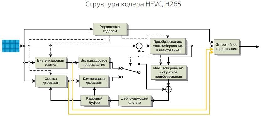 Структура HEVC кодека