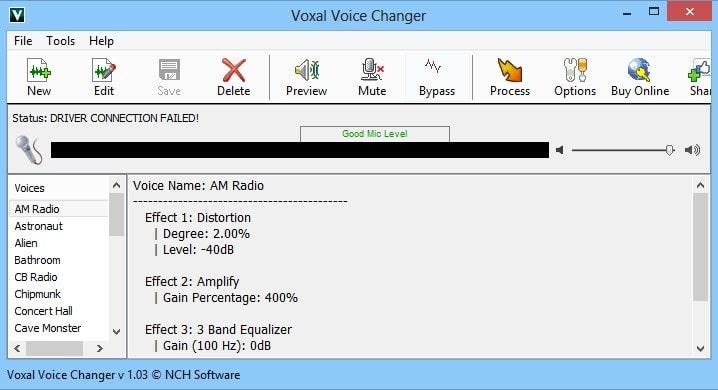 Изображение программы Voxal Voice Changer