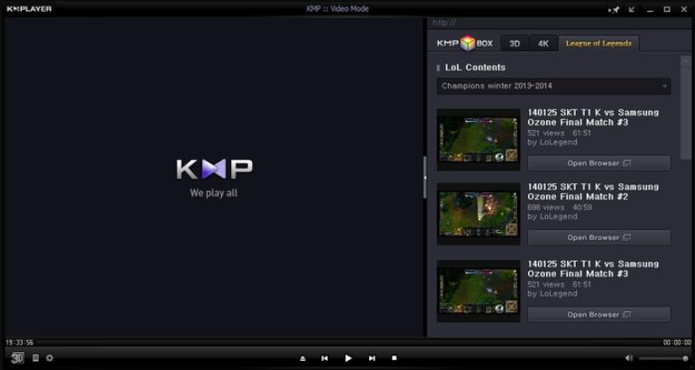 Изображение мультимедийного проигрывателя KMPlayer